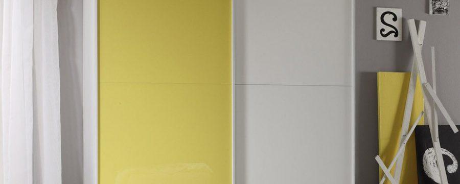 ארון הזזה מודרני זכוכית כתומה