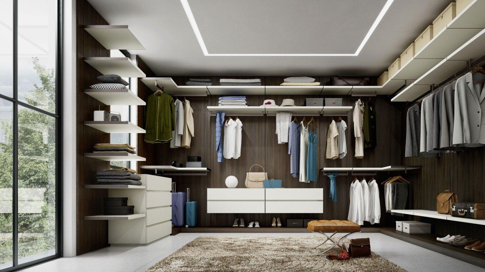 חדר ארונות משולב עץ וצבע אפוקסי