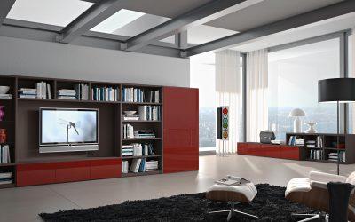 מזנון לסלון אדום מודרני