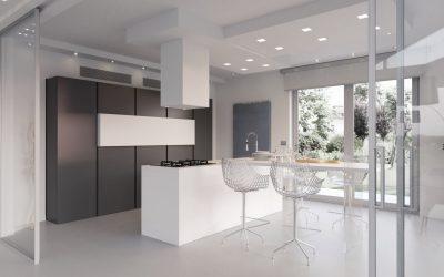 מטבח מודרני נאנו שחור ולבן