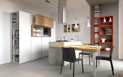 מטבח מודרני עץ ולבן